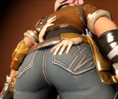 Fortnite Penny gets kissed on all her body! Romantic Animation