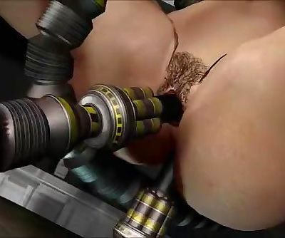 3D big titties fucks sex robots until they explode their hot oily loads all over this slut