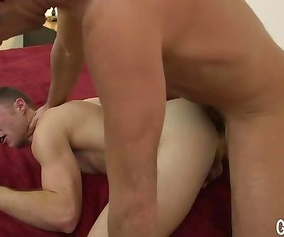 GrowlBoys - daddy breeds jock bareback and fills him with monster satyr cum