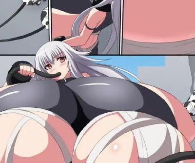 Shino VS Mad Cow Scientist - Breast Expansion Comic Dub