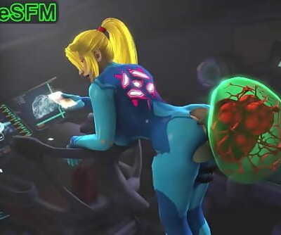 Samus and her metroid pet 56 sec