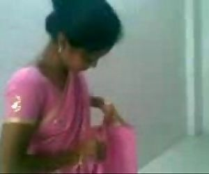 pink saree wife- -..