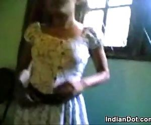 Cute Indian Teen Girl Washes Her..