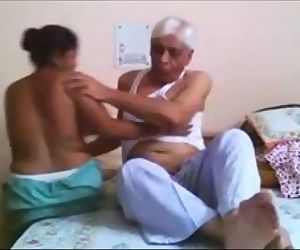 Desi Maid Fucked Hard By Old..