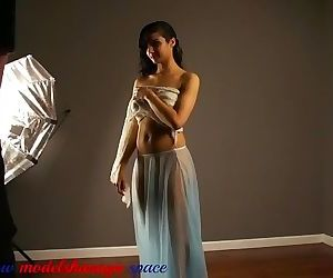 Model Shanaya in sexy transparent..