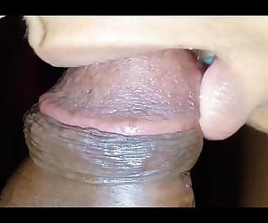 Ultra Close-Up Indian Desi Blowjob