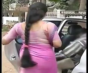 Serial actress Sukanya hot THICK long Hair Back View Side..