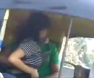 Indian Couple Having fun outdoor in mumbai road autowala -..