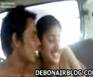 Young Punjabi lovers kissing & enjoying naked in car - 2 min