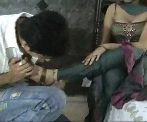 Indian model in churidar foot worship - 16 min