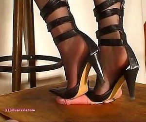Beneath Indian Mistress Julie Singlas Soles who tramples..