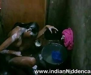 Bangladeshi Indian Young Girl Taking Shower - 2 min