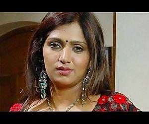 Bhuvaneswari Hot Indian Aunty rare saree drop clip - 1 min..