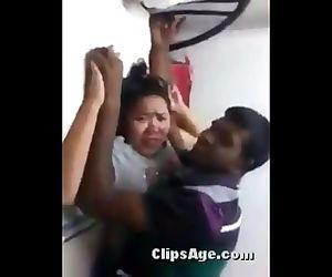 Punjabi guy enjoying foreplay with Malay lady