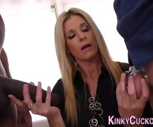Milfs cunt licked by cuck 10 min