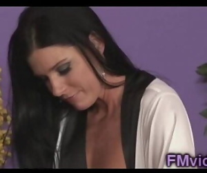 Amazing Milf India Summer plays with a big dick 5 min