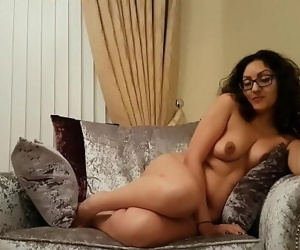 Sexy British babe gives explicit dirty talk JOI playing..