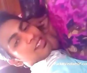 Indian desi sexy young girl at home alone with boyfriend 3..