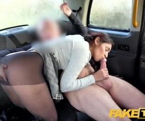 Fake Taxi British babe Sahara Knite gives great deepthroat..