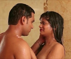 Hot indian teen sex couple in shower humorous end..
