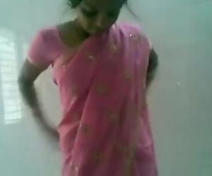 Telugu pink saree