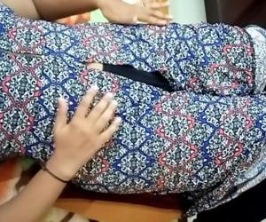 HOT INDIAN GIRL BOOB PRESS, BLOWJOB, MOANING LOUDLY FUCK