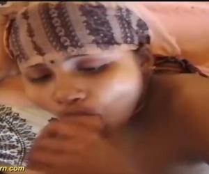 年轻的 大 布布 德西 印度 青少年 第一 异族 色情