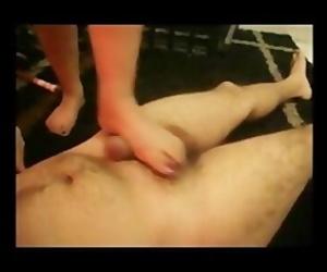 Pakistani Femdom Begum tramples her Small Asian Paki Penis..
