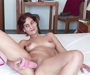 Shy Woman Plays with a Dildo