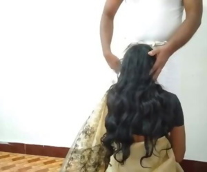 Desi Wife change Saree Cuckold husband recording Sucking..