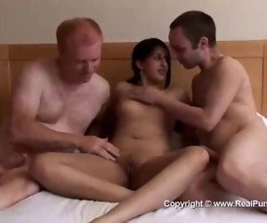 Fit Indian Babe Threesome