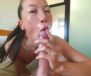 Slurping blowjob
