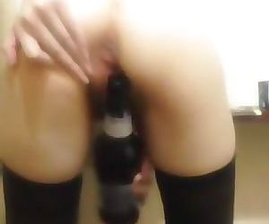 Pleasing myself with a bottle..