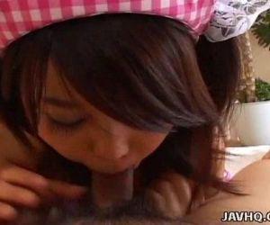Japanese teen Arisa Takada cums..