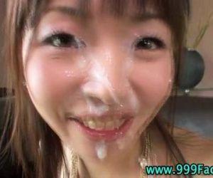 Asian pov hottie gets facial..