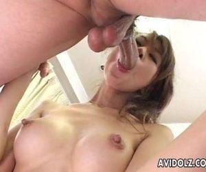 Japanese babe Aki gets fingered..