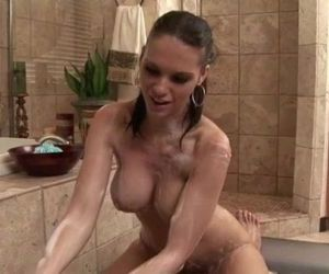Sexy babe soapy..