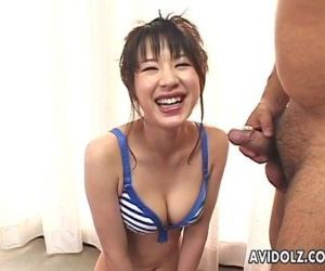 Cute Asian babe hot blowjob - 6 min