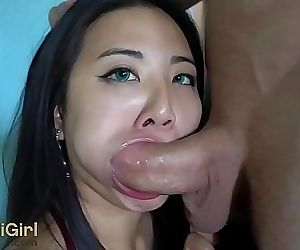 WMAF asian doll gets THROATFUCK..