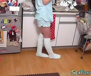 Japanese teen on..