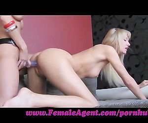 FemaleAgent. Hot blondes and strap ons