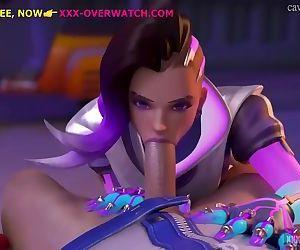 Deep throatfuck, overwatch xxx-parody