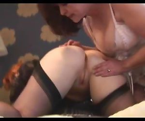 Busty mature lesbians close up pussy licking