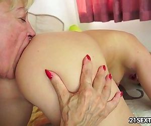 Young and old lesbian love with dildo funHD