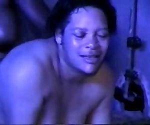 Real amateur. Mature ebony lesbians licking and fingering - 3 min