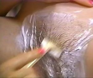 Retro pornhot blonde shaving brunette