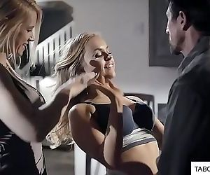Daughter and mother suck father dick 6 min HD