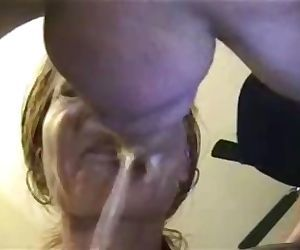 Sloppiest throat fuck n cum. with prostate milking