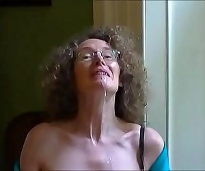 Linda shows off her tits and drools cum 2 min