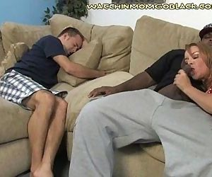 Son Sees Interracial Mom Nut - 3 min